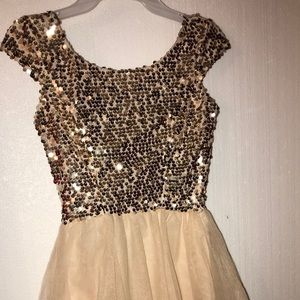Gold beaded Rue Dress for Occassion  Small
